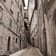 Alleyway. Perugia. Umbria. — Stock Photo