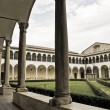 Cloister of St. Domenico Church. Perugia. Umbria. — Foto Stock