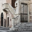 Palace of the Canons Staircase. Foligno. Umbria. - Stock Photo
