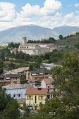 Panoramautsikt över spoleto. umbrien. — Stockfoto