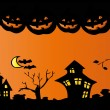 Halloween night. - Stock Vector