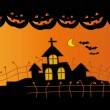 Stock Vector: Halloween night.