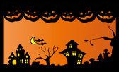 Halloween nacht — Stockvector