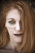 Undead woman. — Stock Photo
