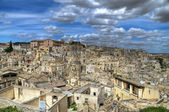 Panoramic view of Matera. Basilicata. — Stock Photo