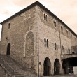 Consul Palace. Bevagna. Umbria. - Stock Photo