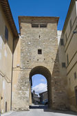 Porta St. Leonardo. Montefalco. Umbria. — Stock Photo