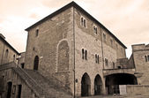 Consul Palace. Bevagna. Umbria. — Stock Photo