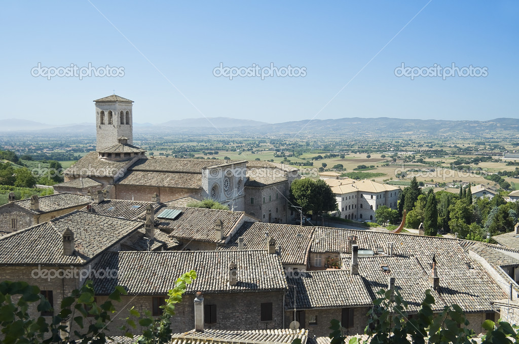 St. Pietro Church. Assisi. Umbria. — Stock Photo #3865925