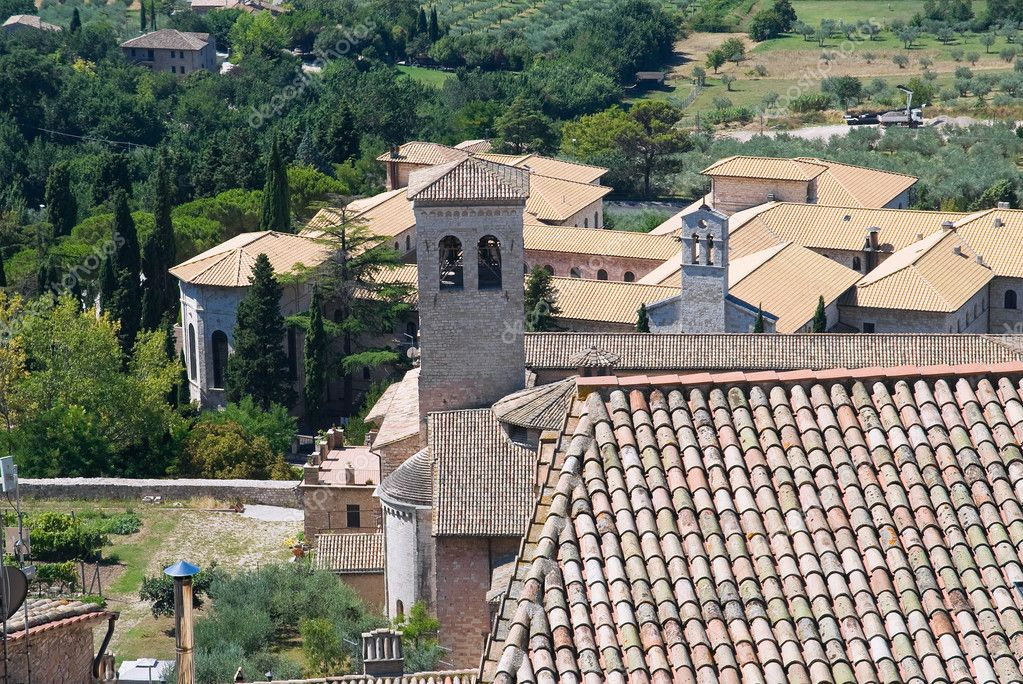 Panoramic view of Assisi. Umbria.  Stock Photo #3866227