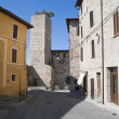 Alleyway. Spello. Umbria. - Stock Photo