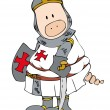 Crusader Pig. — Stock Vector
