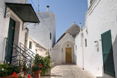 Trulli. Alberobello. Apulia. — Stock Photo