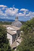 Panoramische Ansicht von Spoleto. Umbrien. — Stockfoto