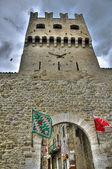 Porta san agostino. montefalco. umbría. — Foto de Stock