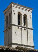 St. Maria Maggiore Belltower Church. Assisi. Umbria. — Stock Photo