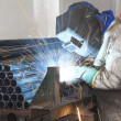 Factory Worker Welding — Stock Photo