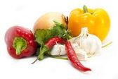 Foodstuffs on white — Stock Photo