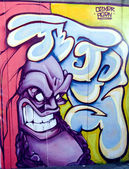 Colorful Graffiti on a wall — Stock Photo
