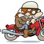 Vintage biker — Stock Vector
