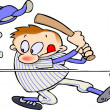 Baseball player - Image vectorielle
