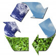 Ecological recycle sign - Stock Photo