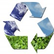 Ecological recycle sign — Stock Photo