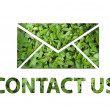 Ecological contact us symbol — Stock Photo