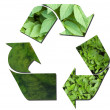 Green ecological recycle sign - Stock Photo