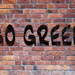 Go green grafitti — Stock Photo