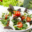 Stock Photo: Fresh salad with mozzarelland tomatoes