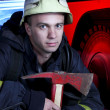 Stock Photo: Portrait of firefighter