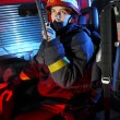 Portrait of firefighter — Stock Photo