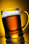 Glass of beer close-up — Stock Photo
