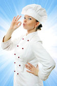 Attractive cook woman — Stock Photo