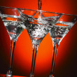 Martini being poured into a glass — Stock Photo