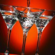 Stock Photo: Martini being poured into glass