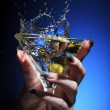 Stock Photo: Splashing martini