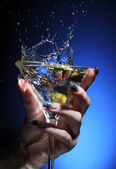 Splashing martini — Stock Photo
