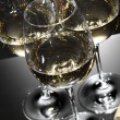 Glasses of white wine — Stock Photo