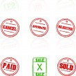 Royalty-Free Stock Vector Image: Vector rubber stamps on white background