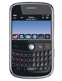 Vector cell phone / PDA / Blackberry — Stock Vector