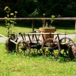Decorative barrow — Stock Photo #3460248