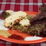 dieet plaat met kaas — Stockfoto