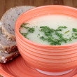 Mushrooms soup - Stock Photo
