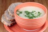 Mushrooms soup — Stock Photo