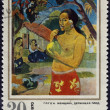 Gauguin Paul - Woman Holding a Fruit. Postage stamp — Stock Photo #3303086