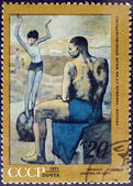 """Pablo Picasso """"A Girl on the Ball"""" - postage stamp — Stock Photo"""