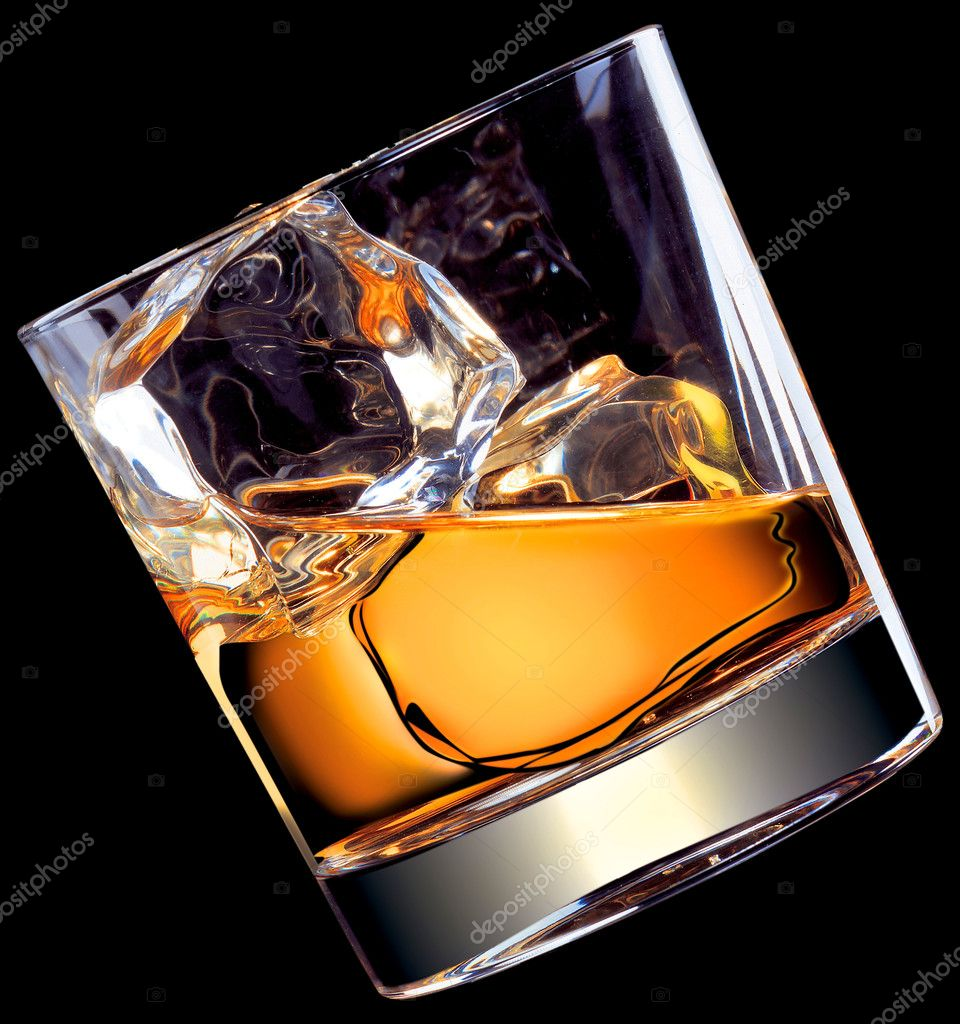 Illustration - whisky on the rocks  Stock Photo #2985293