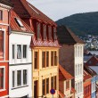 Old houses in Bergen - Stock Photo
